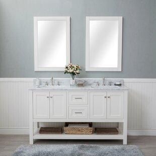 Great Price Shae 60 Double Bathroom Vanity Set with Mirror By Darby Home Co