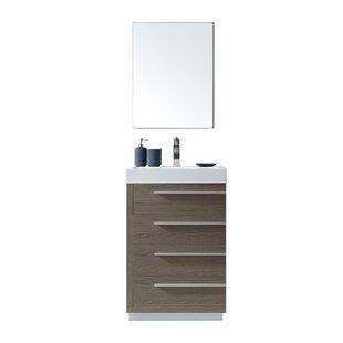 Copher 22 Single Bathroom Vanity Set with Mirrored Medicine Cabinet ByBrayden Studio