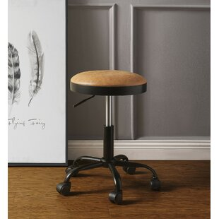 Faxon Adjustable Height Swivel Bar Stool (Set of 2) by Williston Forge