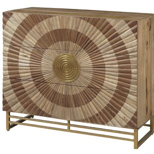 Goldendale Metallic 3 Drawer Accent Chest by Bloomsbury Market