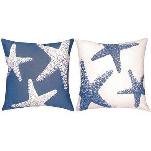 Nautical Ns Starfish Small Knife Edge Throw Pillow