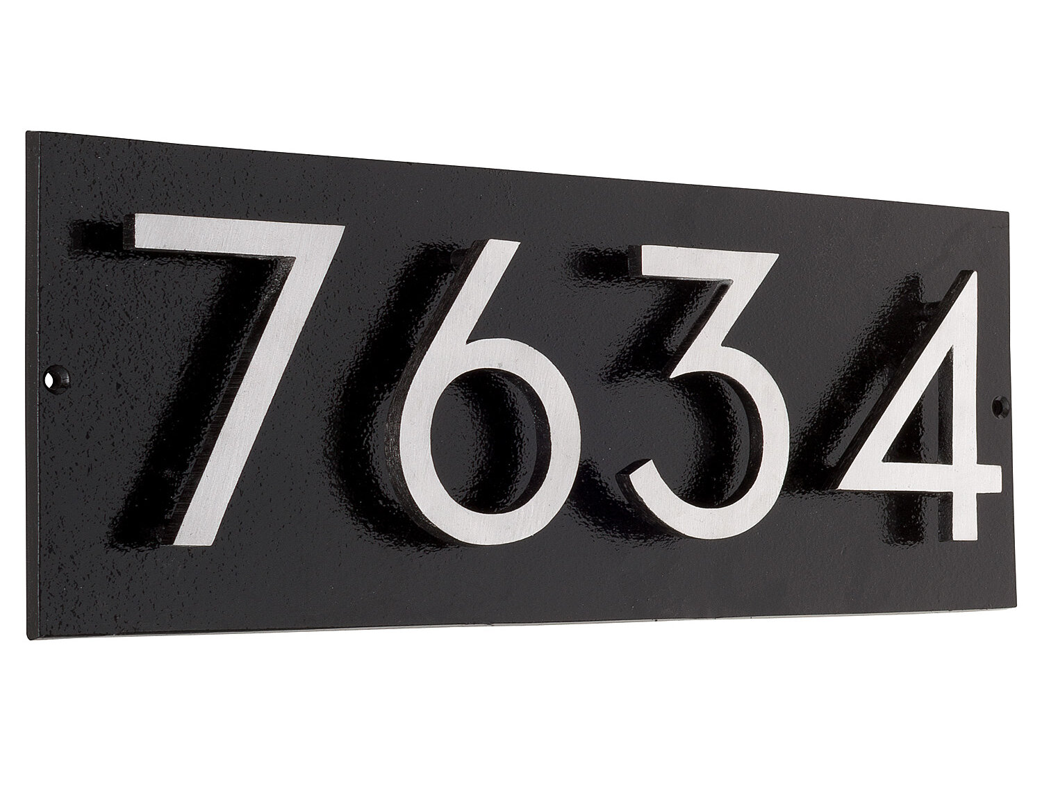 Montague Metal Products Floating 1 Line Wall Address Plaque Reviews Wayfair