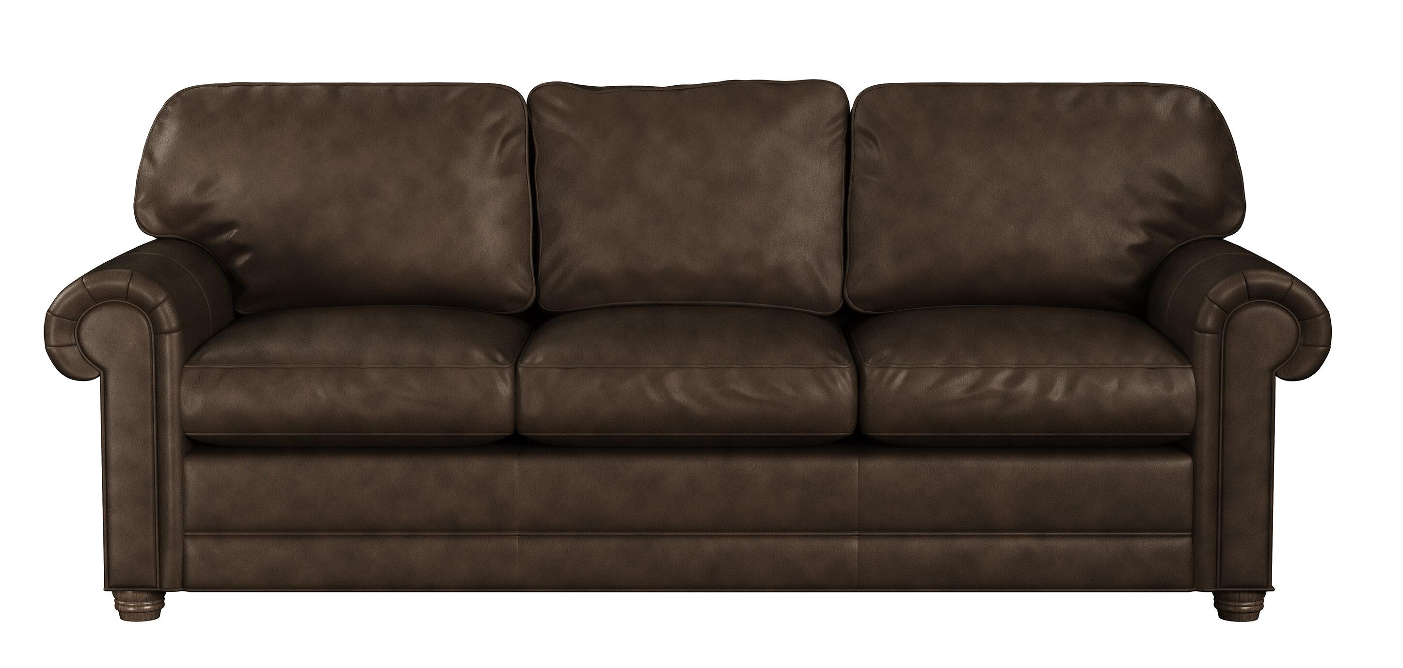 Westland And Birch Oslo 90 Wide Genuine Leather Rolled Arm Sleeper Sofa Bed Wayfair Ca