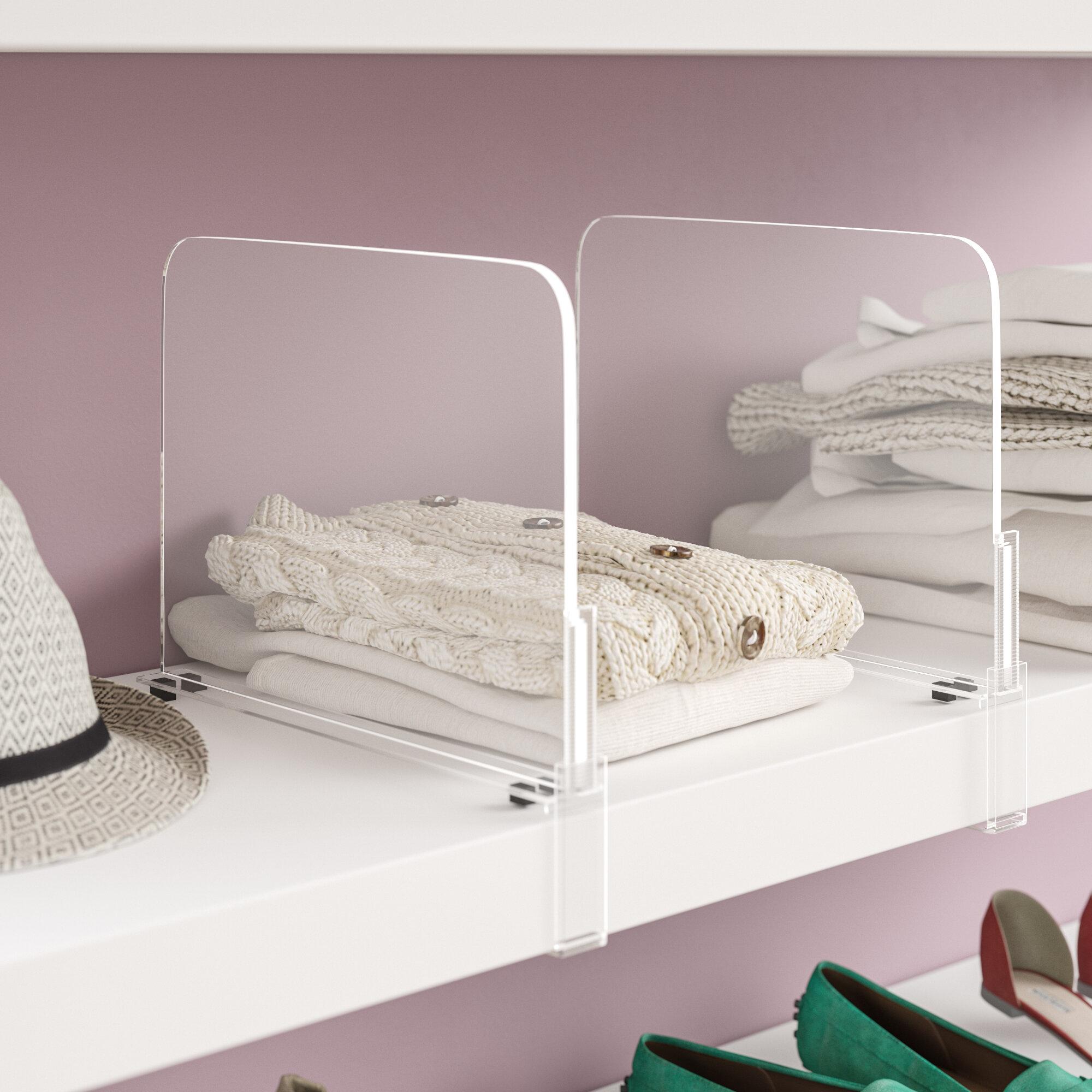 Merveilleux Bowie Acrylic Shelf Dividers Closet Shelves Organizer Separator