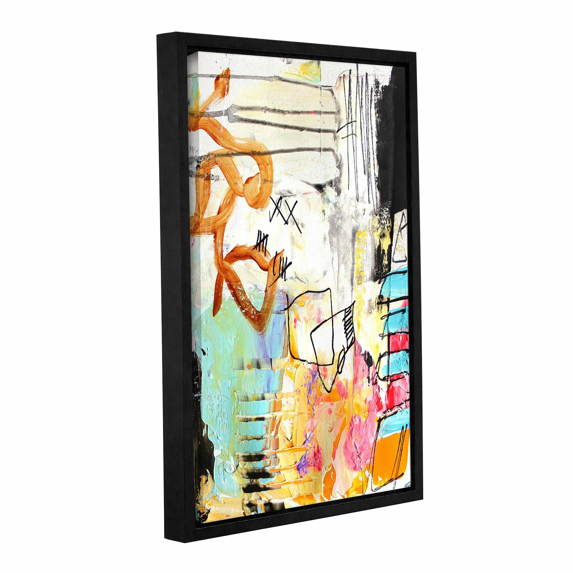 Latitude Run Chaos Ii Framed Painting Print On Wrapped Canvas Wayfair