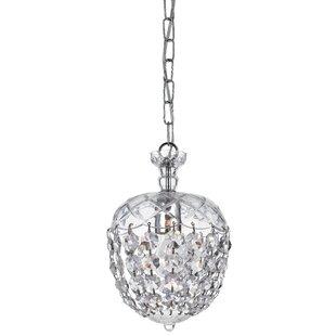 Celia 1-Light Crystal Pendant by Crystorama