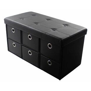 Faux Leather Storage Bench ByRebrilliant