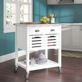 Fulton Kitchen Cart with Stainless Steel by Red Barrel Studio®