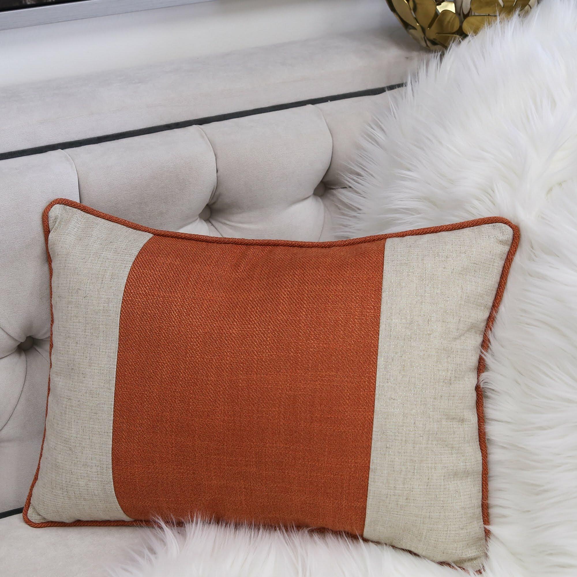 Beachcrest Home Maude Rectangular Linen Feathers Lumbar Pillow Reviews Wayfair