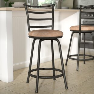 Zipcode Design Deandre Adjustable Height Swivel Bar Stool
