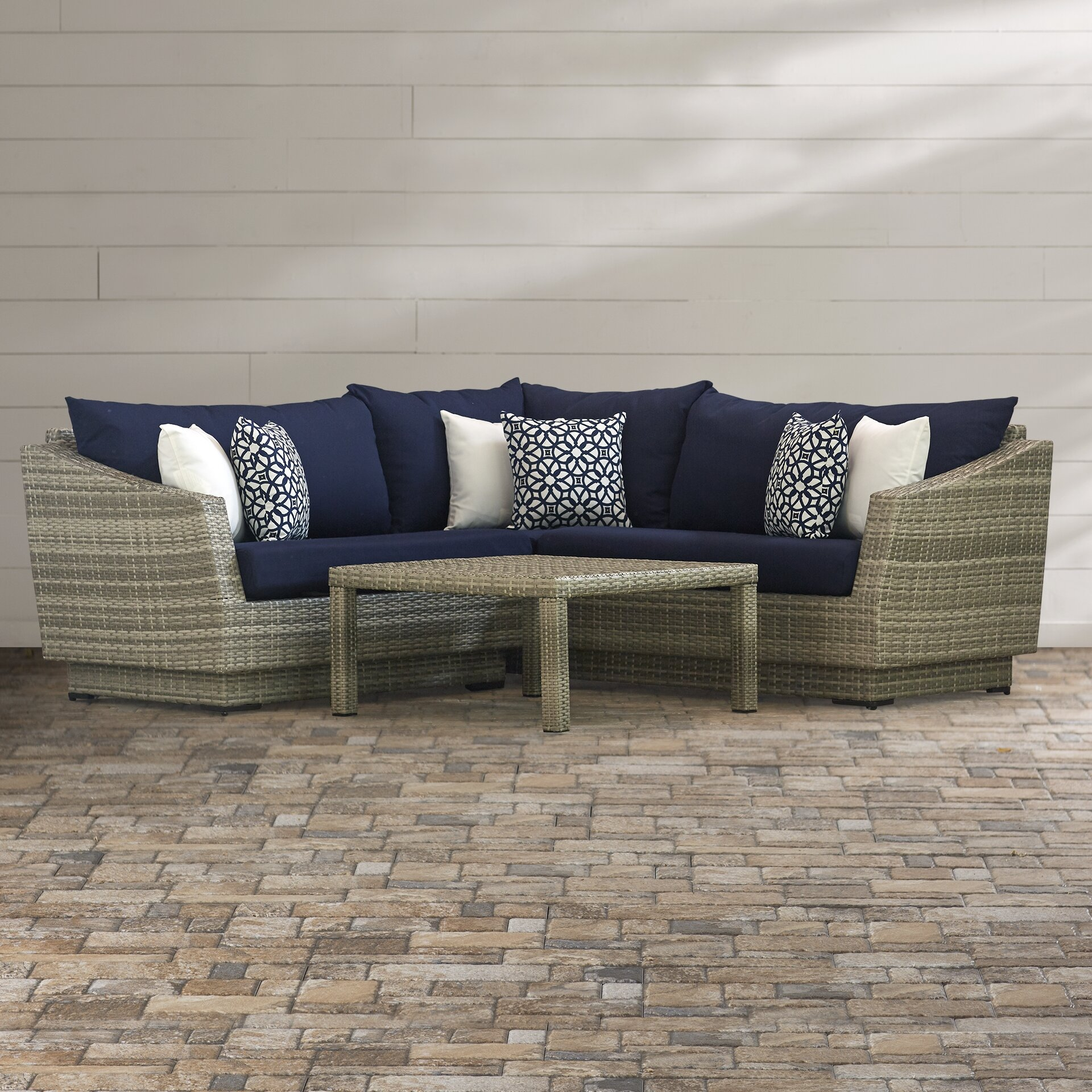 Wade Logan Castelli 4 Piece Sectional Sofa Set With Cushions Reviews Wayfair