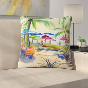 Caribbean Time Outdoor Throw Pillow