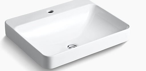 Vox Rectangular Vessel Bathroom Sink with Overflow