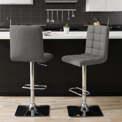 Surprising Dostie Adjustable Height Swivel Bar Stool Brayden Studio Theyellowbook Wood Chair Design Ideas Theyellowbookinfo