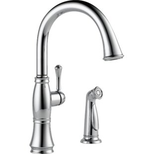 Delta Cassidy Single Handle Kitchen Faucet with Side Spray and Diamond Seal Technology