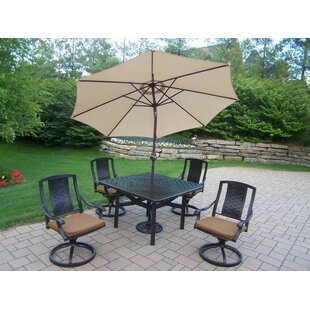 Vanguard 7 Piece Dining Set with Cushions by Oakland Living