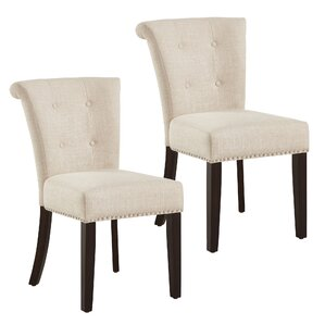 Bentleyville Button Tufted Upholstered Dining Chair (Set of 2) by Darby Home Co