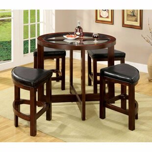 Fellman 5 Piece Counter Height Dining Table Set DarHome Co