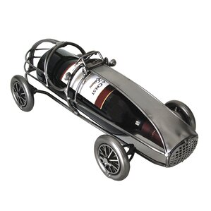 Classic Race Car Caddy 1 Bottle Tabletop Wine Rack by H & K SCULPTURES