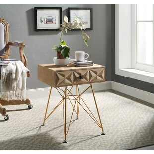 Bungalow Rose Bandit One Drawer Accent Table