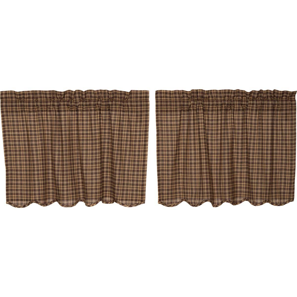August Grove Scalloped Lined Tier Cafe Curtain Reviews Wayfair
