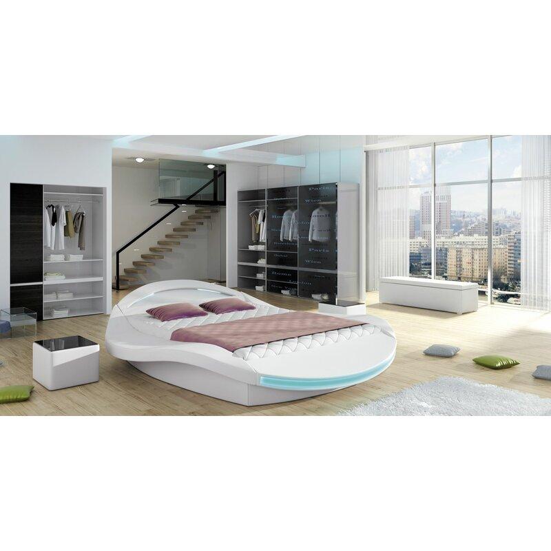 Borgholm Modern Queen Upholstered Storage Platform Bed