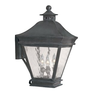 Lockwood 3-Light Outdoor Wall Lantern by Darby Home Co