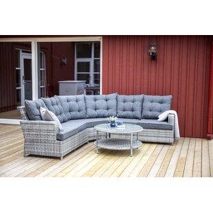 Mishti 5 Seater Rattan Corner Sofa Set By Sol 72 Outdoor
