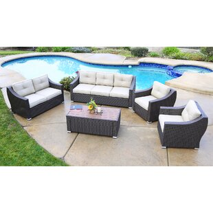 Suai 5 Piece Sofa Seating Group with Cushions