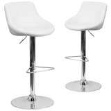 Gavin Swivel Adjustable Height Bar Stool (Set of 2) by Wrought Studio™