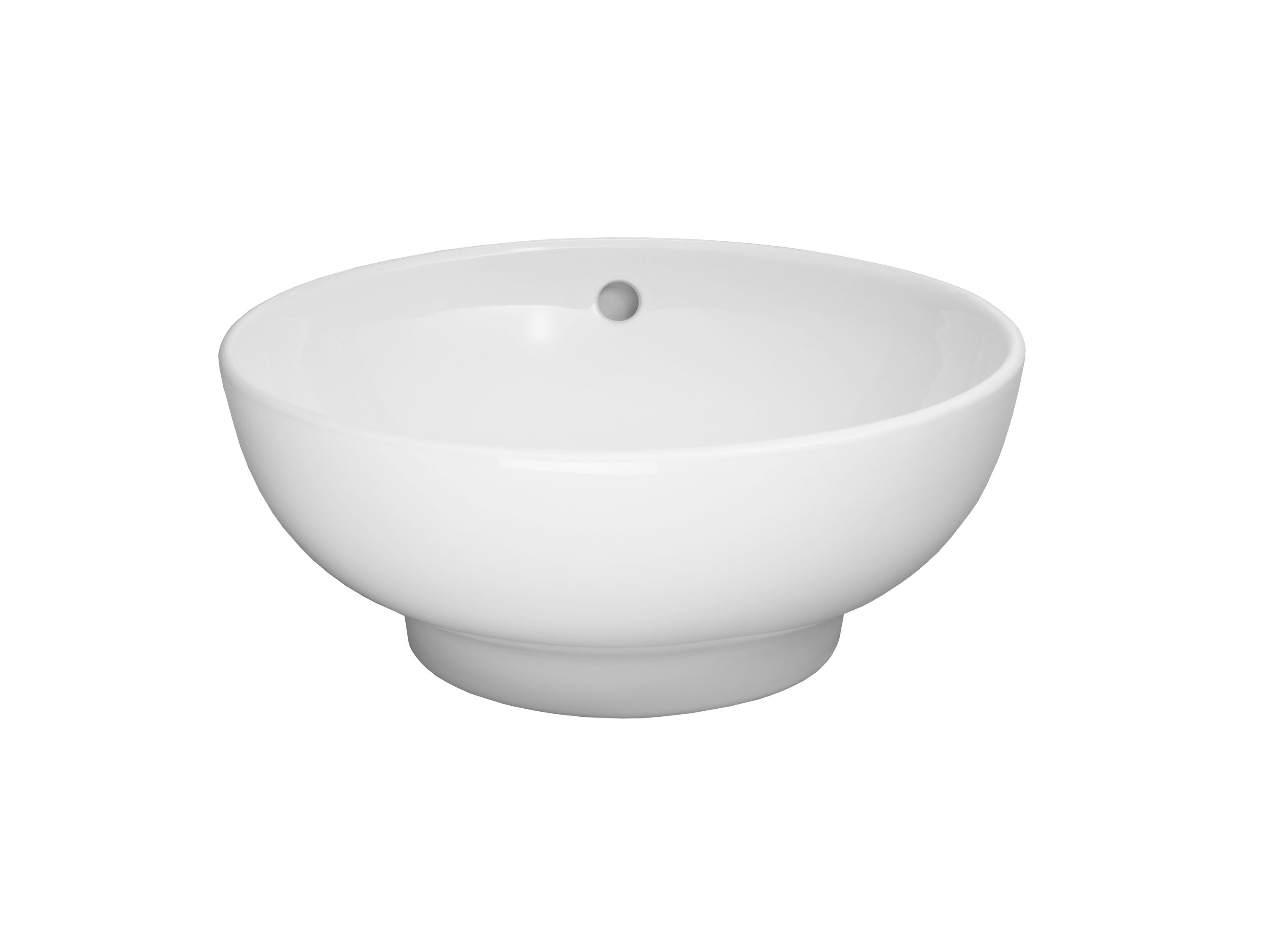 Charmant Ceramic Circular Vessel Bathroom Sink With Overflow