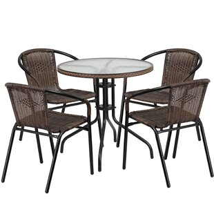 Océane 5 Piece Bistro Set Willa Arlo Interiors