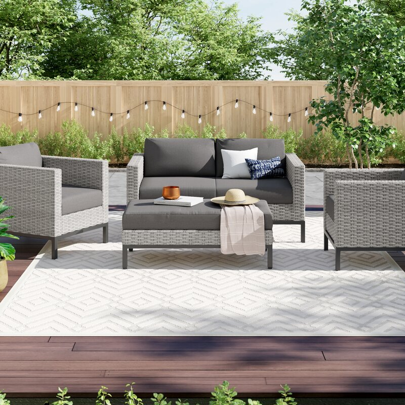 Caire 4 Piece Sofa Seating Group With Cushions Reviews Joss Main