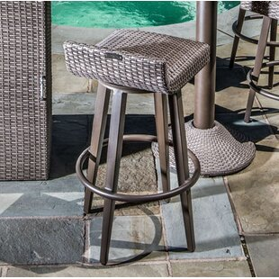 Bayou Breeze Kaylor All Weather Wicker Swivel Patio Bar Stool