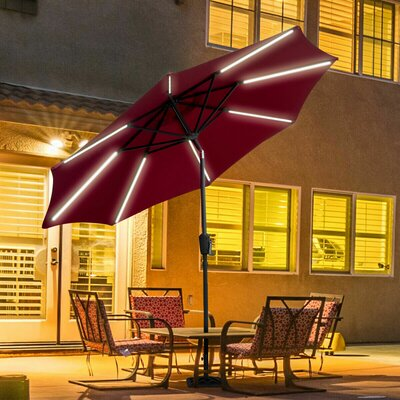 Sinclair 9 Patio LED Light Market Umbrella by Freeport Park Herry Up