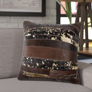 Sarthak Leather Throw Pillow