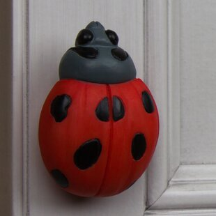 Handpainted Lady Bug Novelty Knob
