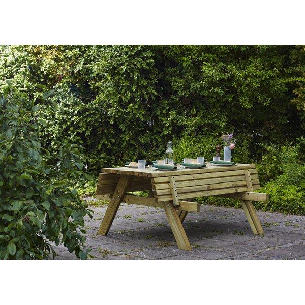 Garten Living Klappbare Gartenbank Madyson Aus Holz Wayfair De