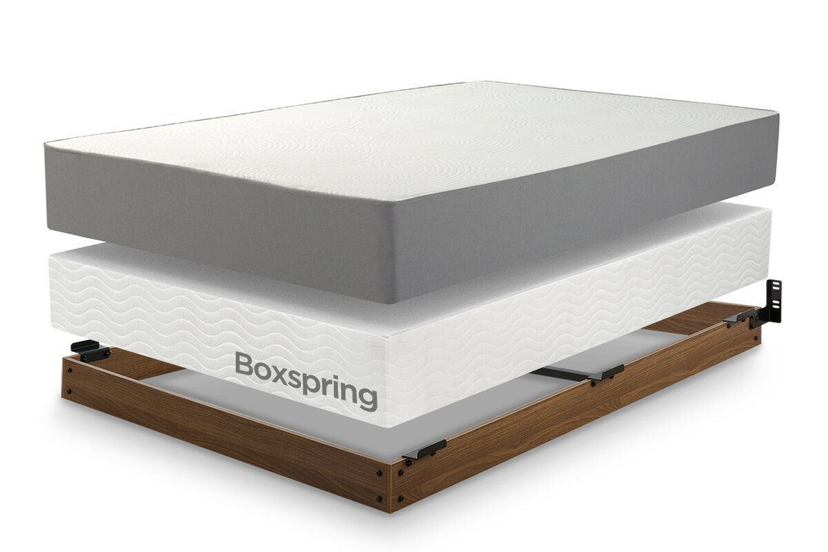 Winston Wood Bed Frame for Box Spring & Reviews | Joss & Main