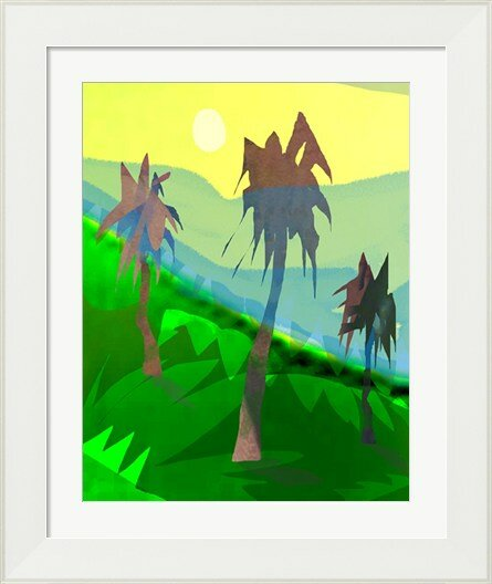 Evive Designs Palm Trees By Holly Mcgee Framed Painting Print Wayfair