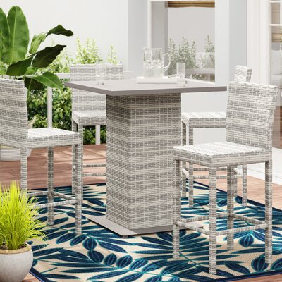 Falmouth 5 Piece Bar Height Dining Set by Sol 72 Outdoor Cheap
