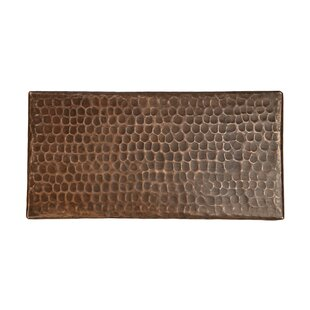 4 X 8 Hammered Copper Tile In Oil Rubbed Bronze Set Of