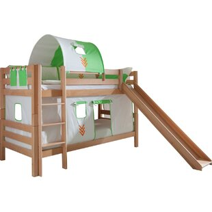 On Sale Faircloth European Single Bunk Bed With Curtain, Tunnel And Pocket