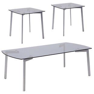 Kaius 3 Piece Coffee Table Set Ebern Designs