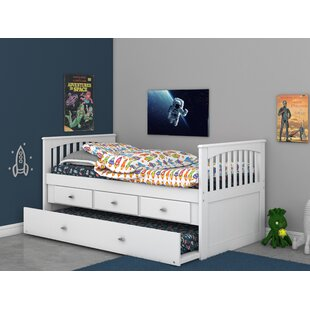 Cam Twin Bed with Trundle by Harriet Bee