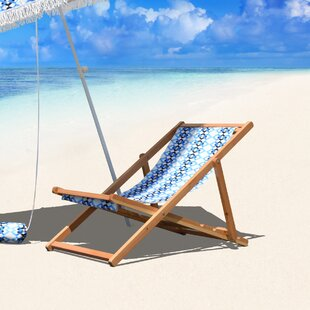 Bungalow Rose Stacey Cabana Reclining Beach Chair