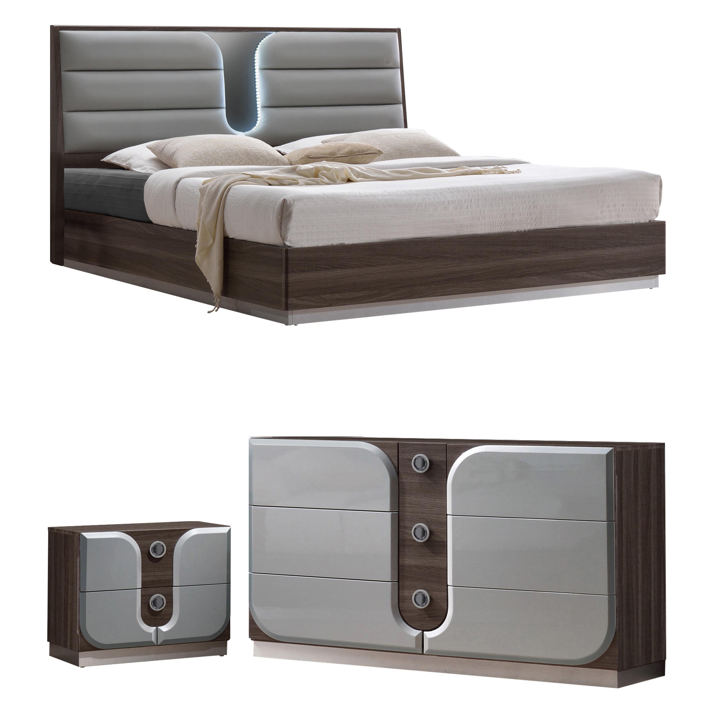 Orren Ellis Anshul Modern Wood Platform Configurable Bedroom Set Reviews Wayfair