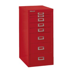Bisley 8-Drawer Vertical Filing Cabinet