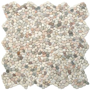 Sempu Random Sized Natural Stone Mosaic Tile in Beige/Cream