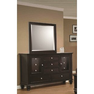 Cianchette 11 Drawer Combo Dresser with Mirror